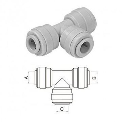 T connector 3/8-3/8-3/8