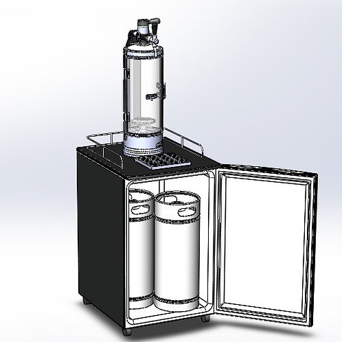 Mobile Roll-Bar with Isobaric Tower for Mugs and Glass Bottles