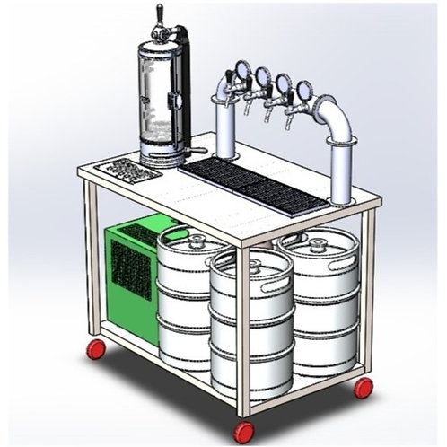 Mobile Bar for 4 Beers