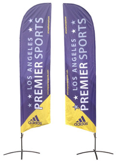 Double sided flag banners