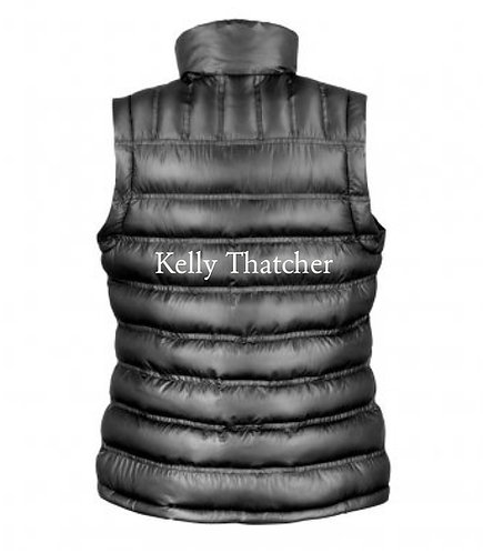 Personalised embroidered padded Gilet