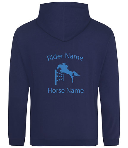 Personalised Showjumping Horse Hoodie - Sparkle Print