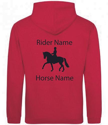Personalised Dressage Horse Hoodie