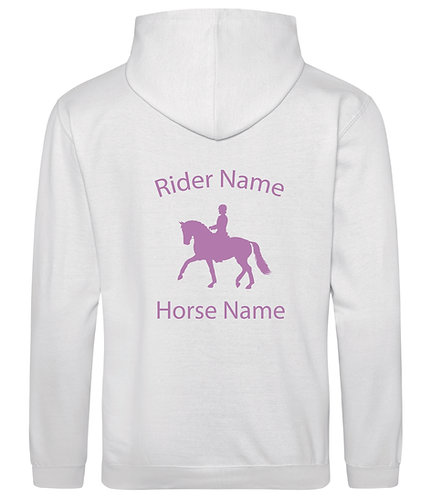 Personalised Dressage Horse Hoodie - Sparkle Print