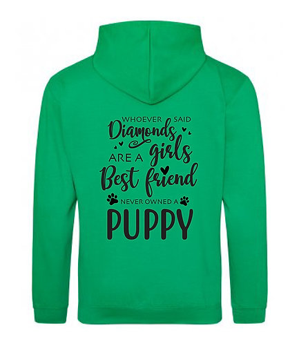 Diamonds best friends puppy hoodie