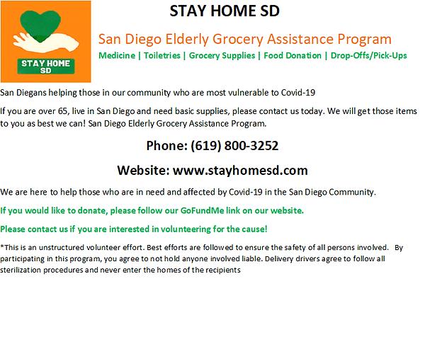 Flyer StayHomeSD