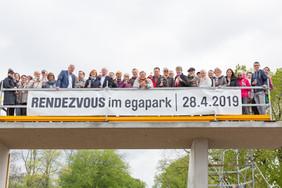 Begehung Rendezvousbrücke am 28. April 2019