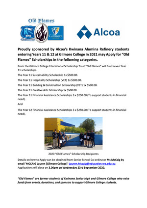 Applications open for Year 11 and 12 Scholarships