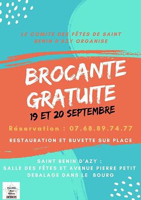 AFFICHE BROCANTE ST BENIN D AZY 19 20 SE