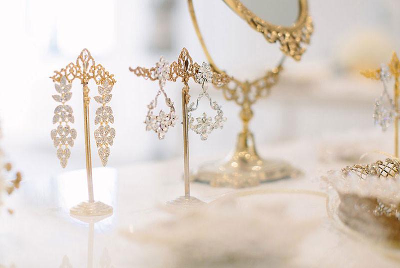 Bridal earrings created by Ilieana George