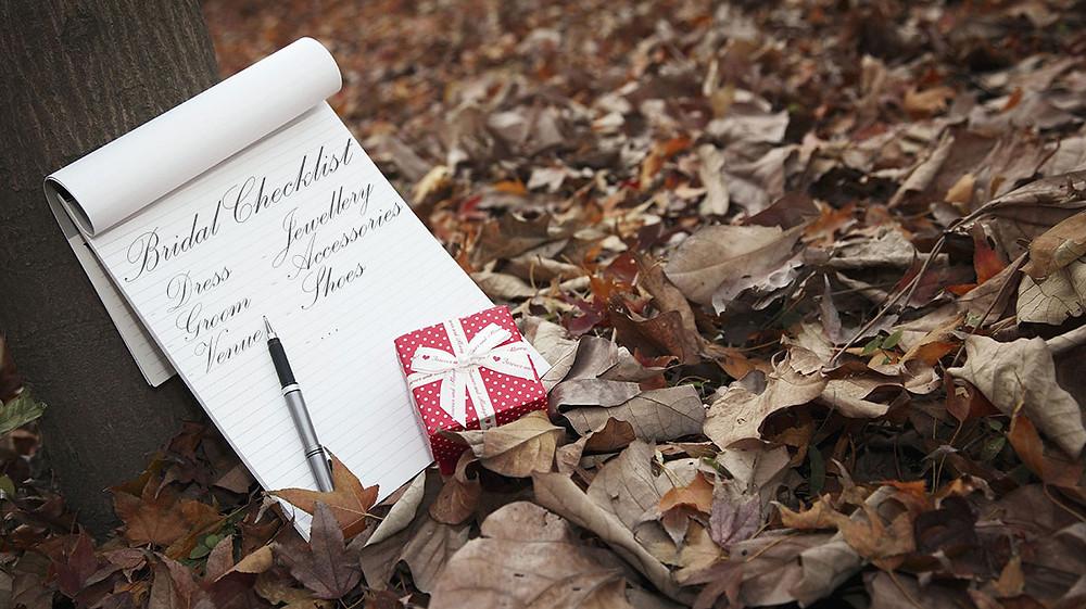 Bridal checklist from Ilieana George