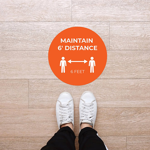 Floor Graphic: Circular - Maintain 6'