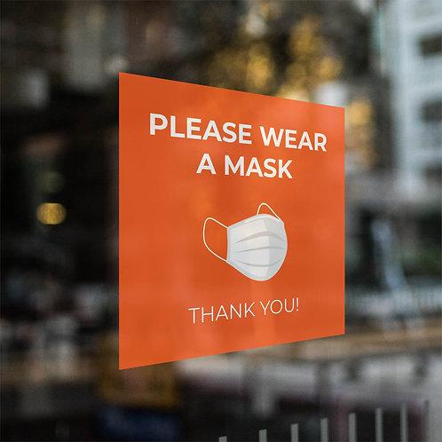 Window Clings: Please Wear a Mask