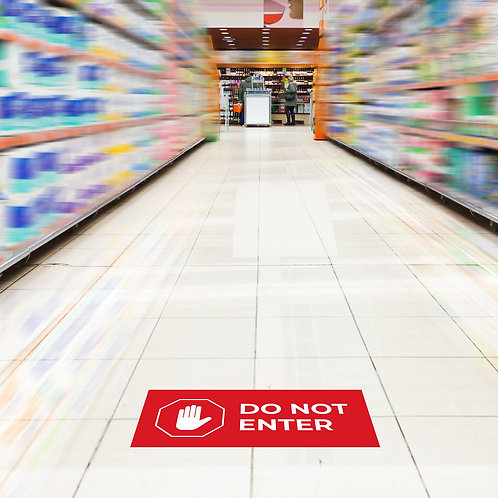 Floor Decals: Rectangular - Do Not Enter
