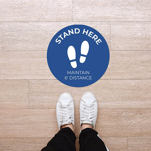 Floor Graphic: Circular - Stand Here