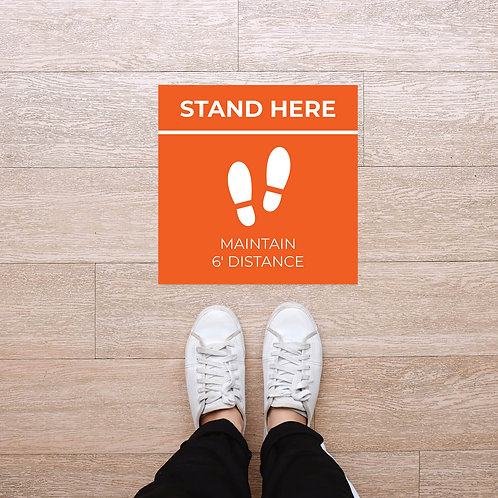 Floor Graphic: Square - Stand Here