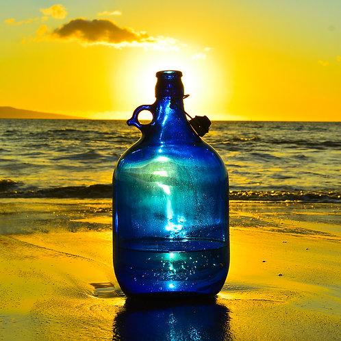 5L Plain Blue Bottle