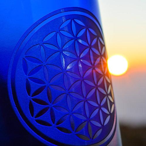 Flower of Life Blue Bottle