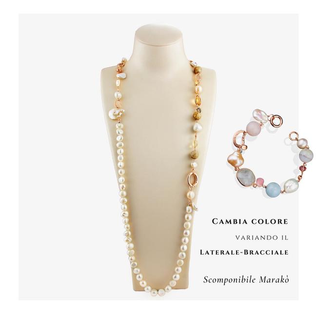 Collana Scomponibile Perle cambia colore