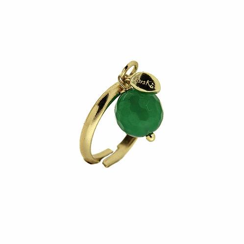 Anello Melina agata verde