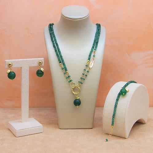 Gioielli agata verde smeraldo - Collezione Le Meline