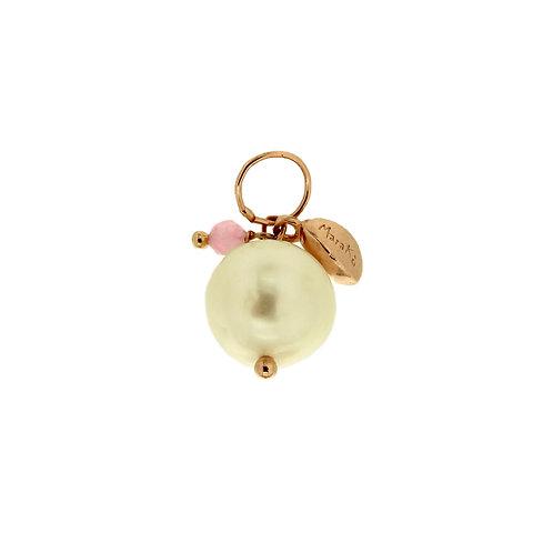 Ciondolo Melina perla e quarzo rosa diamond