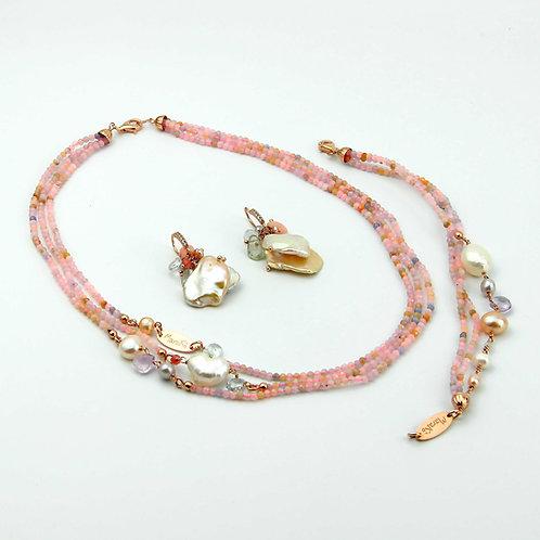 Gioielli acquamarina multicolor diamond e perle - Collezione Waterlily