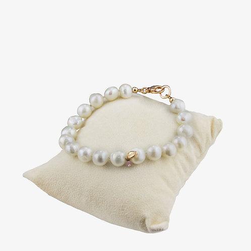 Bracciale Nude perle bianche coltivate