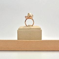 Anello perle coltivate bianche e rosa - Modello 3 Sfere