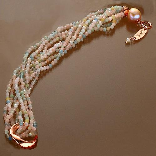 Fascia acquamarina multicolor diamond