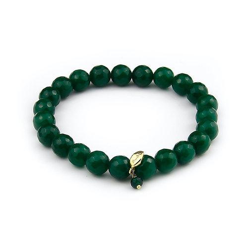 Bracciale elastico agata verde