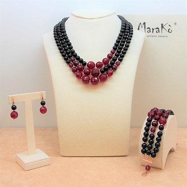 Gioielli agata ruby e agata nera - Collezione Capricci