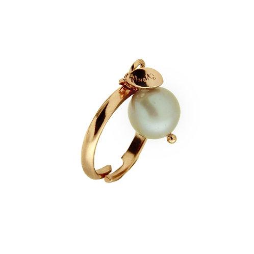 Anello Melina perla grigia coltivata