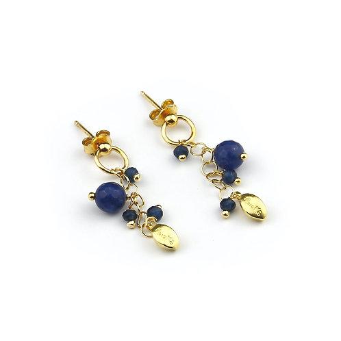 Orecchini agata blu zaffiro - Grapes