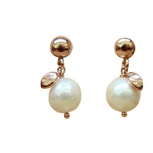 Orecchini Meline perle bianche coltivate