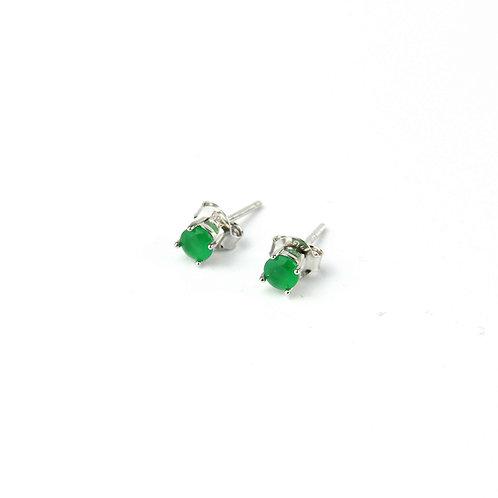 Orecchini zirconi verde smeraldo