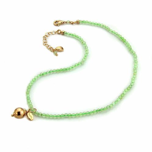 Choker & Grapes - quarzo verde chiaro