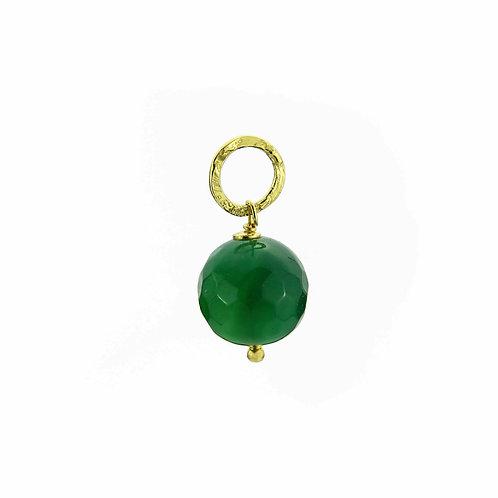 Ciondolo Moonlight agata verde smeraldo