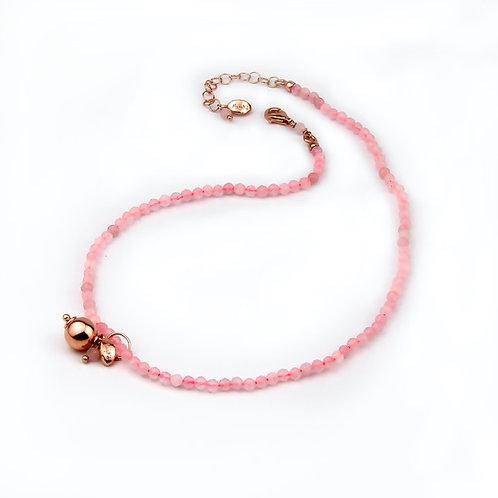 Choker & Grapes - quarzo rosa