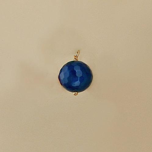 Ciondolo agata blu