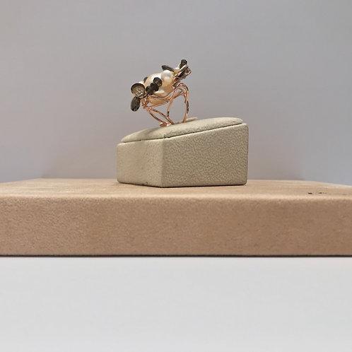Anelli regolabili realizzati a mano in argento, pietre dure e perle coltivate