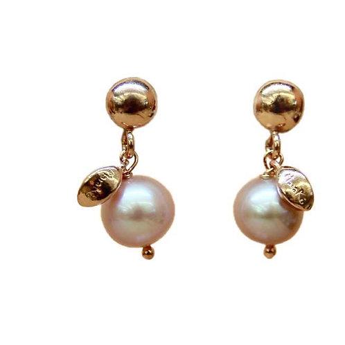Orecchini Meline perle rosa coltivate