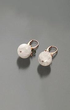 Orecchini cristallo di Rocca satinato, labradorite, opale e perle rosa coltivate