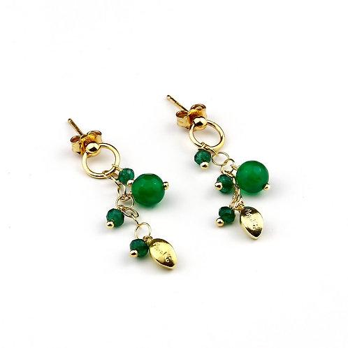 Orecchini agata verde smeraldo - Grapes