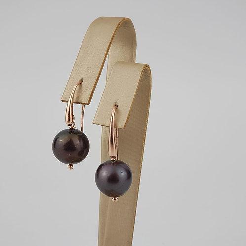 Orecchini perle nere