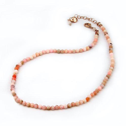 Choker opale rosa