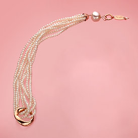 Fascia perle bianche coltivate