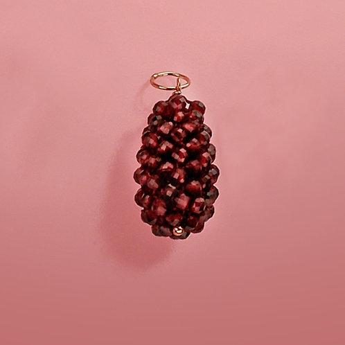 Ciondolo granato diamond