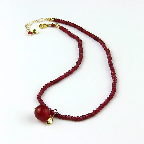 Choker & Grapes - agata ruby