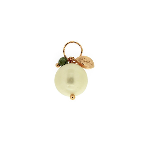 Ciondolo Melina perla e quarzo rutilato verde diamond